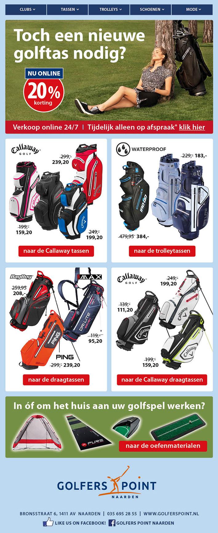 Golfers_Point_Tassen nieuwsbrief_BAS! RECLAME & VORMGEVING