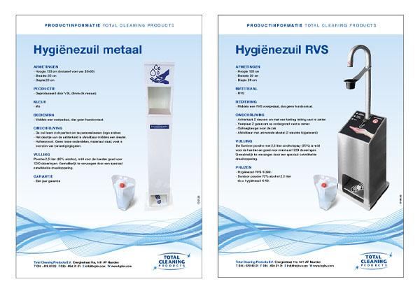 Total Cleaning_products_hygiënezuilen_BAS! RECLAME & VORMGEVING