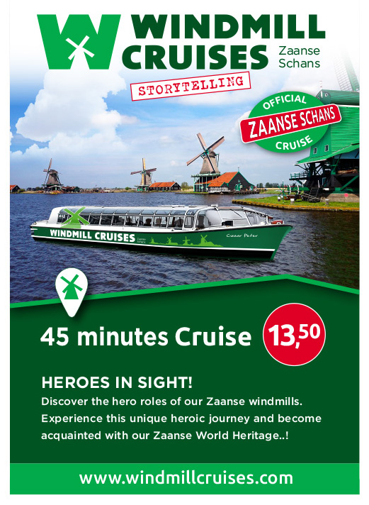 Windmill Cruises Zaanse Schans_BAS! RECLAME & VORMGEVING