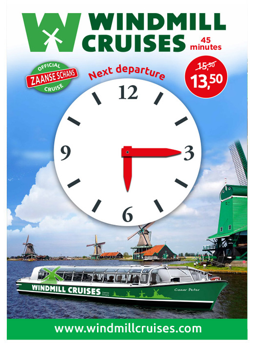Clockboard_windmill Cruises_BAS! RECLAME & VORMGEVING